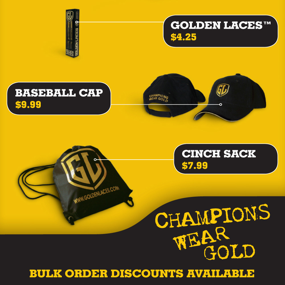 Golden Laces Sales Insert, graphic design