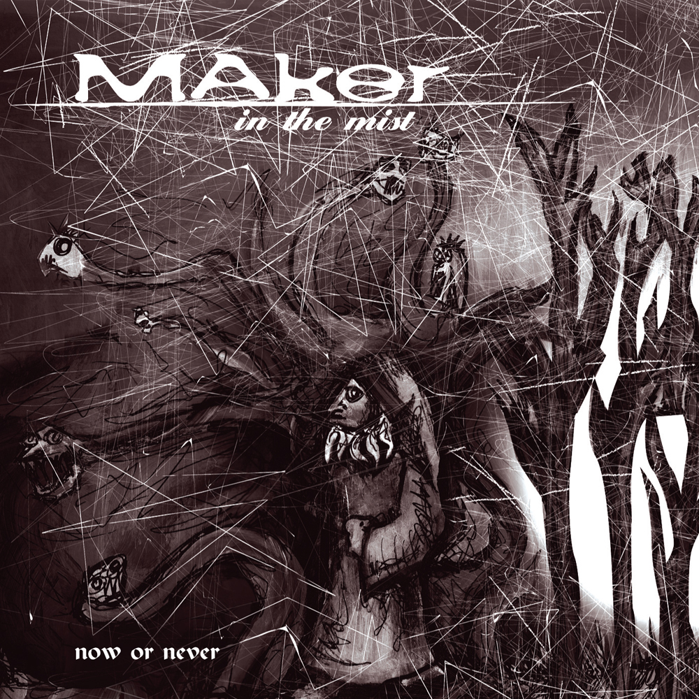 Maker in the Mist album package and postcard design