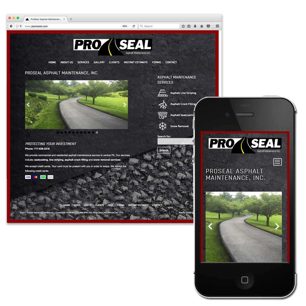 ProSeal Asphalt Maintenance, Wordpress website Development
