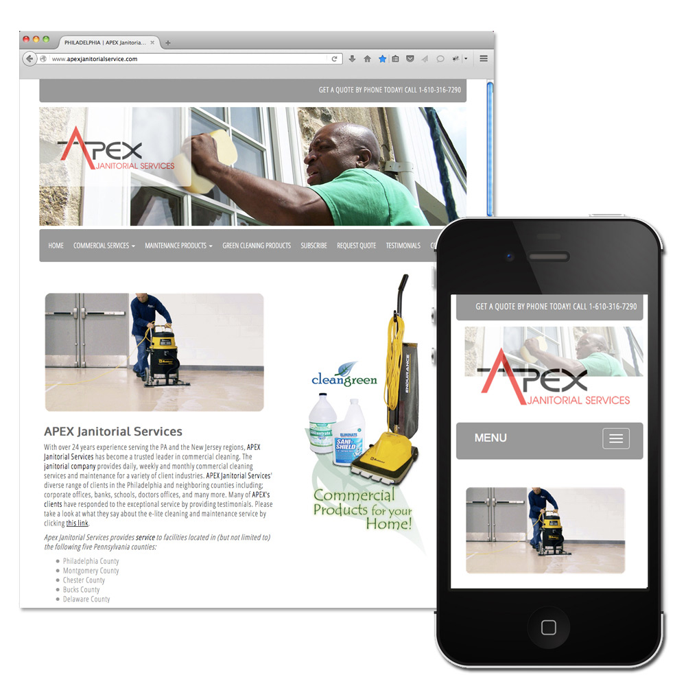 web design, apex janitorial services